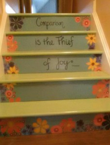 """Comparison is the Thief of Joy"" - Theodore Roosevelt Photo courtesy of Karen Kastner"